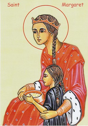 St. Margaret with a child