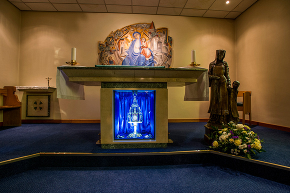 The relic within the Lady Chapel altar